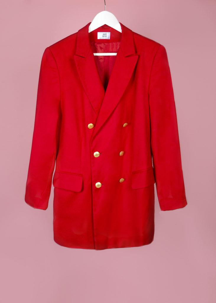 Blazer rouge en laine