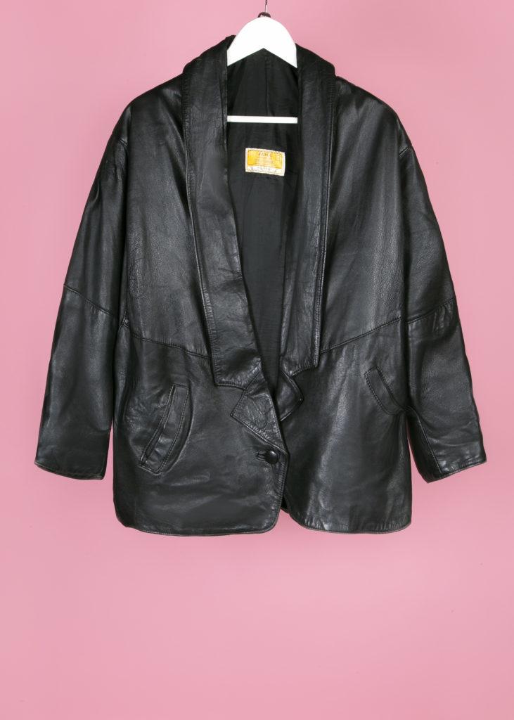 veste en cuir 80's