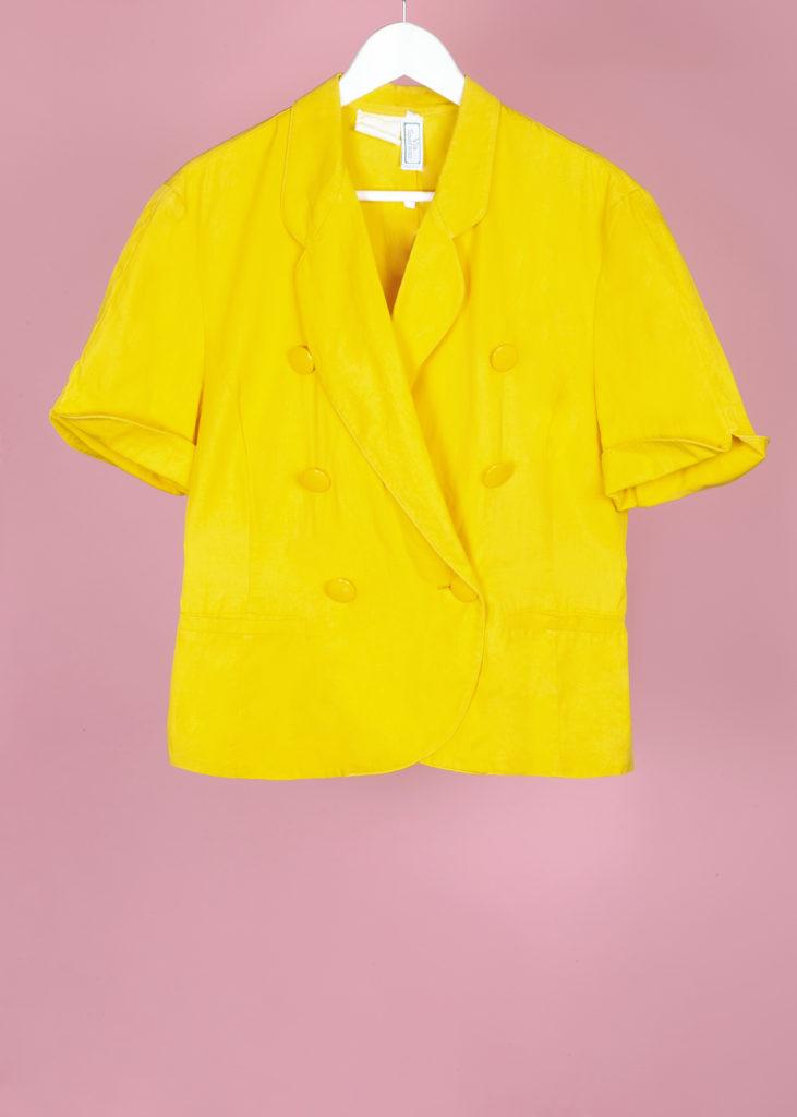 veste courte jaune