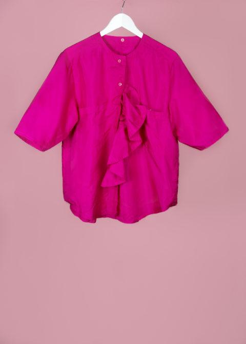 Chemise col à volant - face