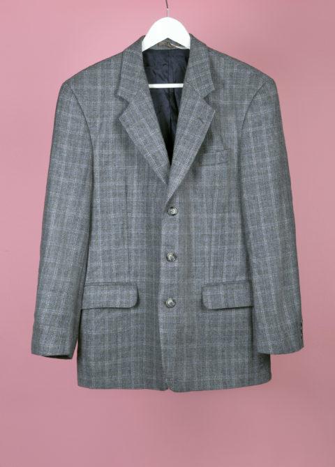 blazer tweed gris