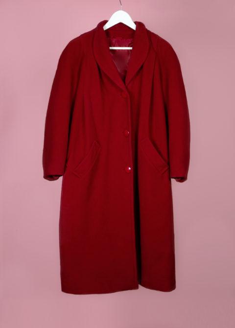 Manteau rouge en laine