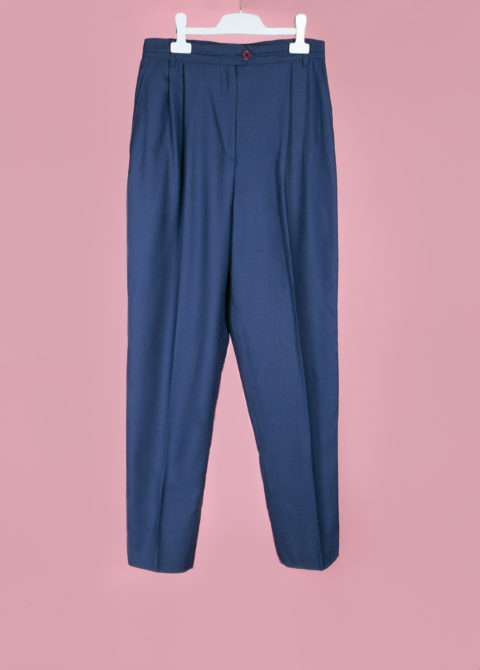 pantalon bleu taille haute