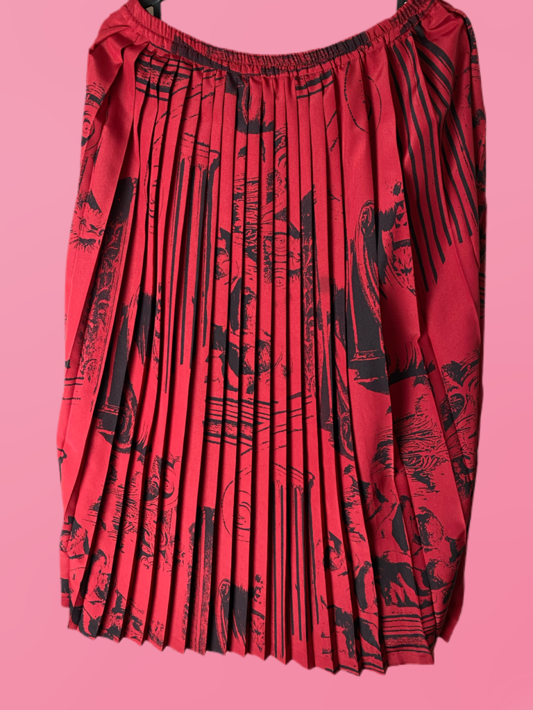 jupe plissée à dessin