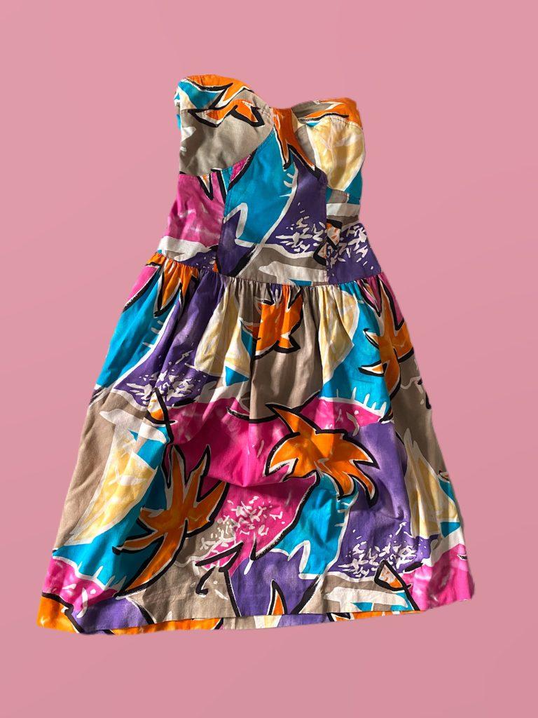 robe bustier multicolore
