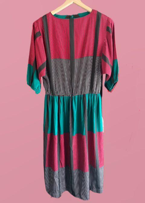 robe à rayures colorées